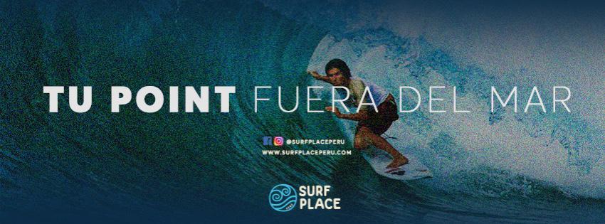 Surf Place tu point fuera del mar